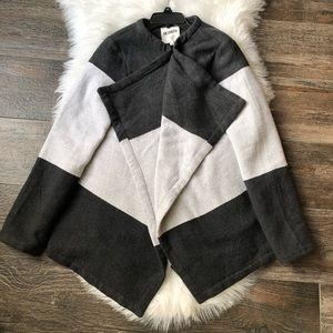 BB Dakota Gray Blanket Wrap Coat